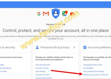 How to delete Gmail.com account Or recover – Step wise tutorial