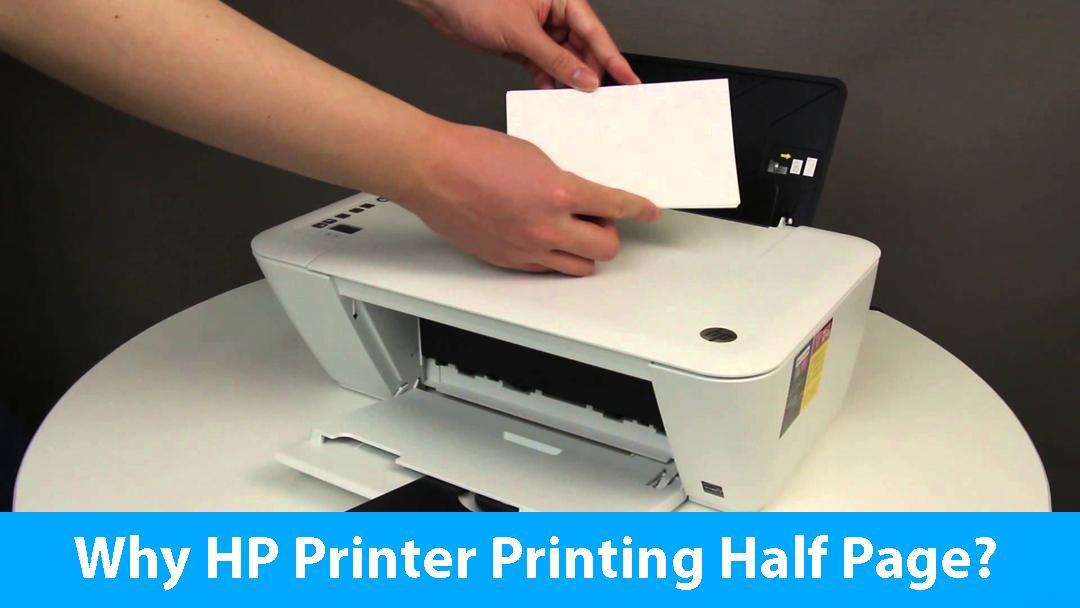 Why HP Printer Printing Half Page