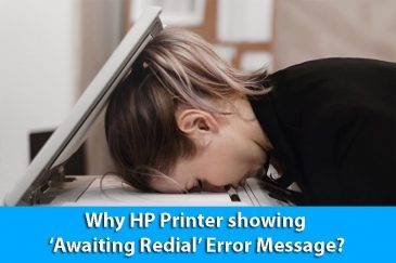 Why HP Printer showing 'Awaiting Redial' Error Message?