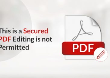 Fix This is a Secured PDF Document Editing is Not Permitted