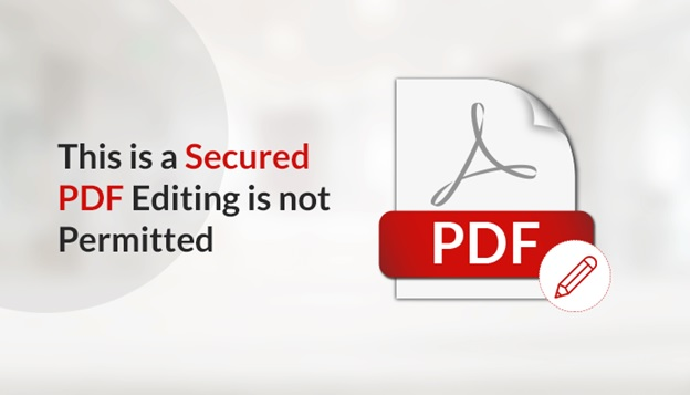 This is a Secured PDF Document Editing is Not Permitted