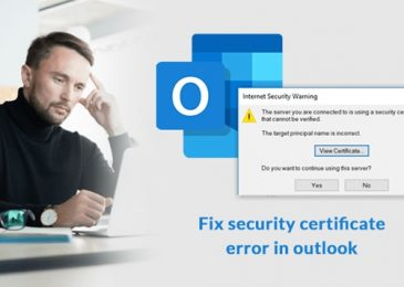 What to do if Someone Got Outlook Certificate Error?
